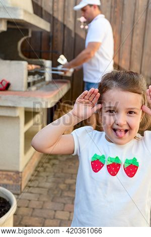 Time To Be Naughty While Dad Cooks A Barbecue. Have Fun With Your Family During The Covid-19 Self-is