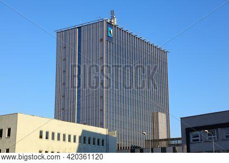 Rybnik, Poland - May 11, 2021: Business Center K1 Office Building In Rybnik, Poland. Rybnik Is An Im