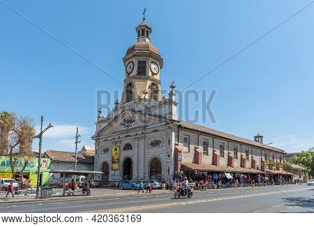 Santiago, Chile-february 28, 2020: The Historic Recoleta Franciscana Church And Convent In Santiago,