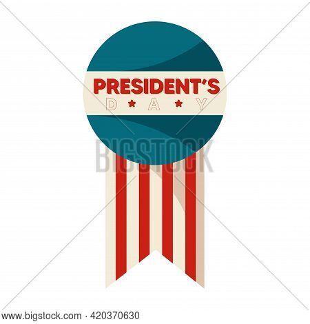 Isolated Flag Presidents Day American Presidents Usa Icon- Vector