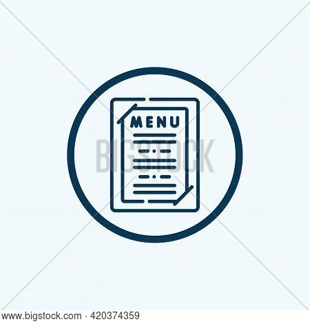 Menu Icon Isolated On White Background From Food Collection. Menu Icon Thin Line Outline Linear Menu