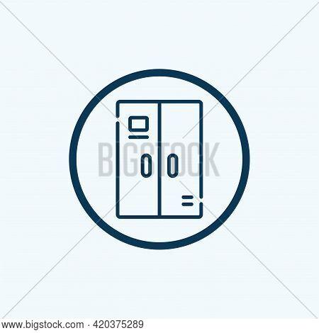 Kitchen Drawer Furniture Icon. Isometric Of Kitchen Drawer Furniture Vector Icon For Web Design Isol