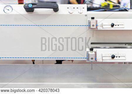 Close Up Electric Wire Setting At Jig Component Set Of Automatic And High Speed Wire Twister Machine