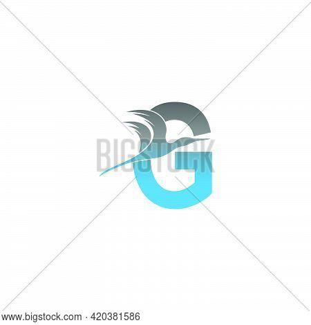 Letter G Logo With Pelican Bird Icon Design Vector