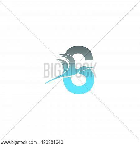 Letter S Logo With Pelican Bird Icon Design Vector