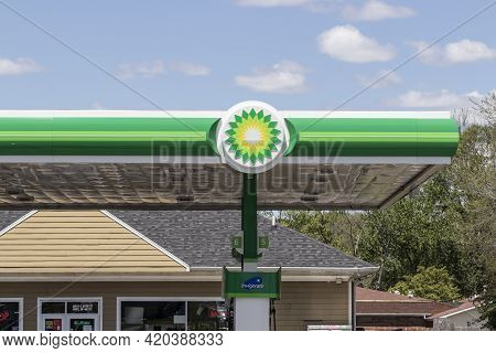 Indianapolis - Circa May 2021: Bp Retail Gas Station. Bp Is A Global British Oil And Gas Company Hea