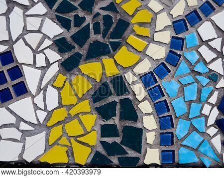 Beautiful Creativecolorful  Handmade Diy Mosaic Work In Closeup View
