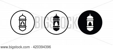 Lantern Icon, Islamic, Ramadan, Eid Al-fitr, Eid Al-adha.chinese, Arabic Lanterns Muslim Antique Lam