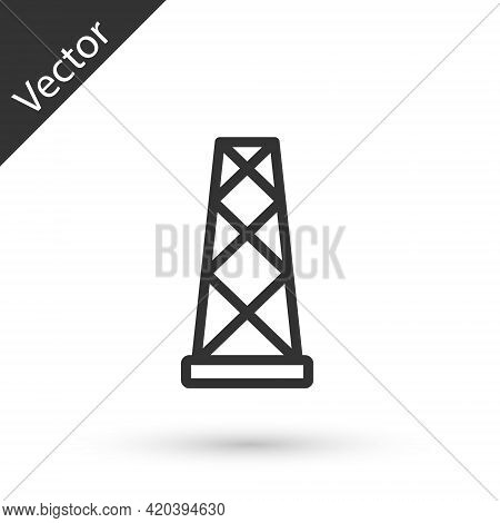 Grey Line Antenna Icon Isolated On White Background. Radio Antenna Wireless. Technology And Network