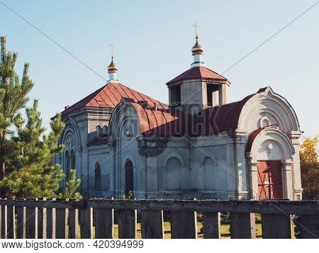 Kolyutkino Village, Sverdlovsk Region, Russia, September 27, 2020: Church In The Village.