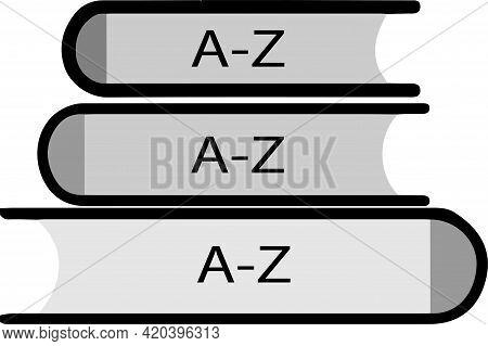 Vocabulary Icon Isolated On Background , Translator, Understand, Vector