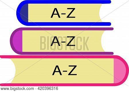 Vocabulary Icon Isolated On Background , White, Word, World