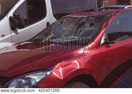 Car After A Car Accident At A Junkyard
