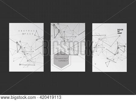 Connection In Abstract Style On White Background. Vector Illustration Design. Abstract Background. T