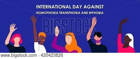 May 17 - The International Day Against Homophobia, Transphobia And Biphobia. Idahot. Horizontal Post