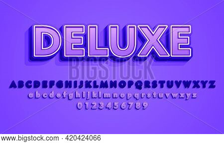 3D Deluxe Text Effect, Editable Text Style