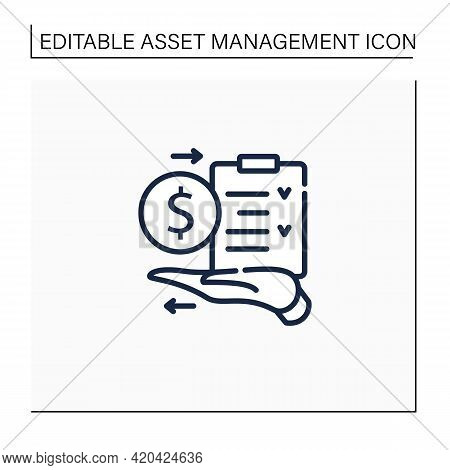 Amp Line Icon.assets Management Plan.tactical Managing Plan On Hand. Instruction. Business Concept.