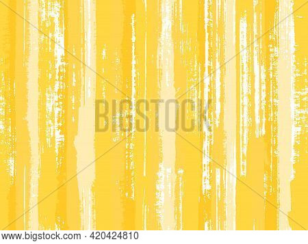 Watercolor Strips Seamless Vector Background. Uneven Ink Hatch Vertical Lines Textile Pattern. Conte