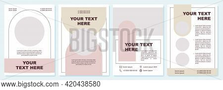 Business Advert Contemporary Brochure Template. Flyer, Booklet, Leaflet Print, Cover Design With Cop