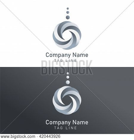 Vector Logo Template Isolated On Transparent Background. Creative Symbol Interweaving In A Shape Of