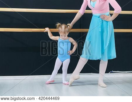 Little Girl At Classes At The School Of Choreography School.
