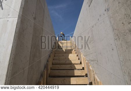 Stairs And Staircase On The Outside