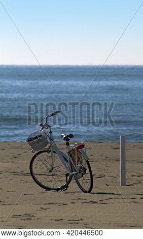 A Bike On The Beach In Forte Dei Marmi