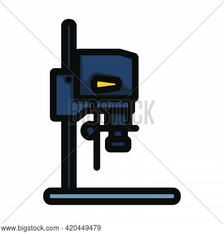 Icon Of Photo Enlarger. Editable Bold Outline With Color Fill Design. Vector Illustration.