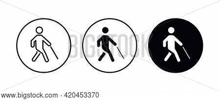 Disabled Icons Button, Vector, Sign, Symbol, Logo, Illustration, Editable Stroke, Flat Design Style