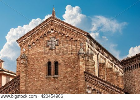 Bologna. Basilica Of Santo Stefano (saint Stephen) Or The Seven Churches, Close-up Of The Facade Of