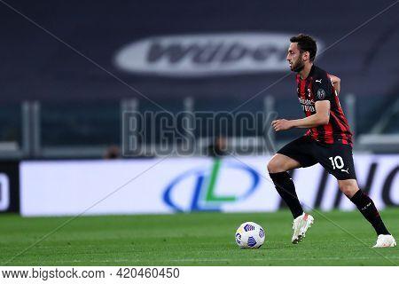 Torino, Italy. 09 May 2021. Hakan Calhanoglu Of Ac Milan  During The Serie A Match Between Juventus