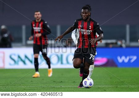 Torino, Italy. 09 May 2021. Frank Kessie Of Ac Milan  During The Serie A Match Between Juventus Fc A