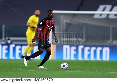 Torino, Italy. 09 May 2021. Fikayo Tomori Of Ac Milan  During The Serie A Match Between Juventus Fc
