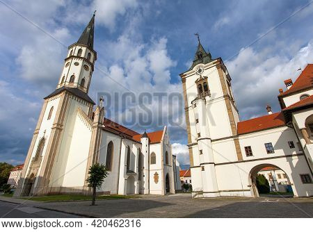 Old Town Hall And Basilica Of St. James Church In Levoca Alias Levoča. A Unesco Wold Heritage Site I