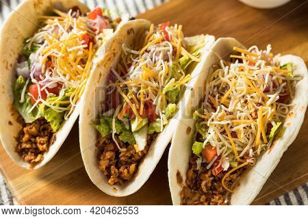 Homemade American Soft Shell Beef Tacos