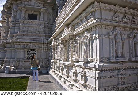 Etobicoke, Ontario / Canada - May 24, 2009: Tourist Destination -  Baps Shri Swaminarayan Mandir - A