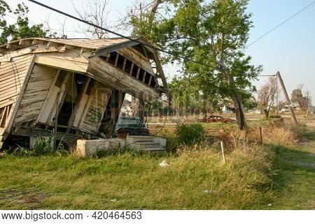 New Orleans, Louisiana, June 26, 2006: The Aftermath In The Ninth Ward Of Hurricane Katrina That Stu