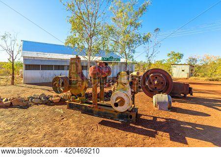 Tennant Creek, Australia - Aug 2019: Gold Wash Plant Of Battery Hill Mining Center, Tennant Creek In