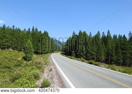The Scenic Everitt Memorial Highway That Winds Through The Beautiful Mount Shasta Wilderness In Sisk