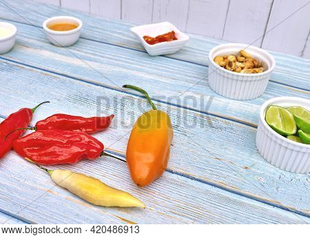 Peruvian Snack Traditional Food Inca, Traditional Dressings Of Peruvian Food, Mayonnaise, Aji Limo,