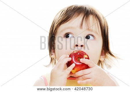 Eating Fresh Apple