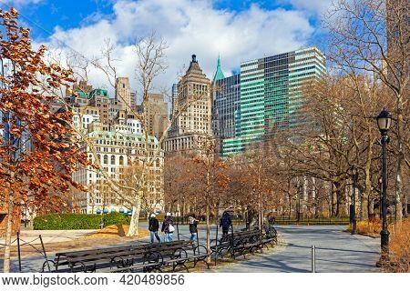 Central Park and Manhattan skyline, New York