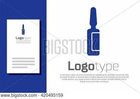 Blue Toothache Painkiller Tablet Icon Isolated On White Background. Tooth Care Medicine. Capsule Pil