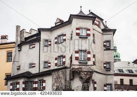 Ottoburg Restaurant In A Late Gothic Tower House In The Old Town Of Innsbruck, Tyrol, Austria