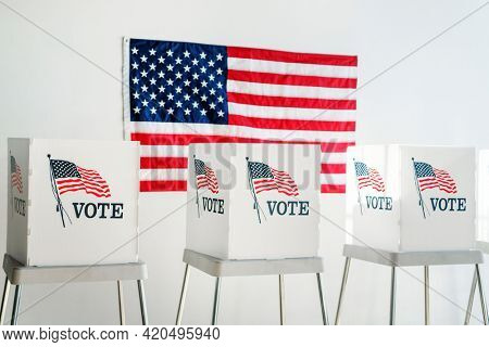 American democracy national voting booth