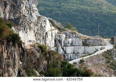 The Marble Quarries - Apuan Alps Carrara Tuscany Italy poster