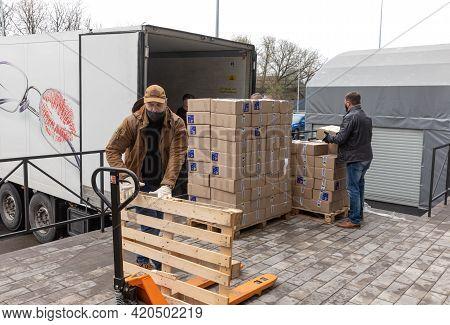 Humanitarian Aid. Coronavirus Epidemic In Ukraine
