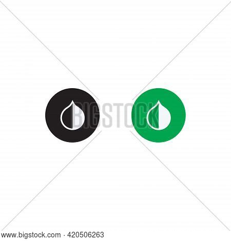 Invert Colors Icon Vector In Flat Design Style. Contrast, Hue, Saturation Symbol Illustration