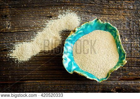 Dry active yeast, such dry yeast is used for baking bread and cakes as well as for beer production Saccharomyces cerevisiae