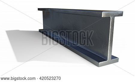 Flange Beam Rolled Metal - Isolated Concept Industrial 3d Rendering